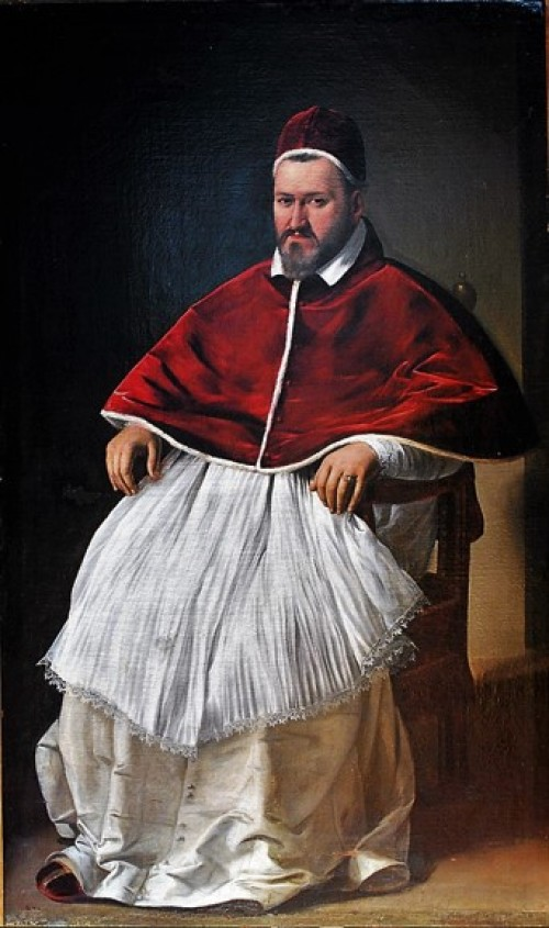 Portrait of Pope Paul V, most likely Caravaggio, pic. WIKIPEDIA