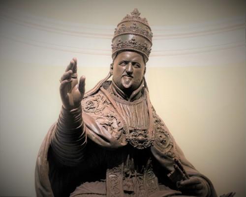 Posąg papieża Pawła V, loggia bazyliki Santa Maria Maggiore, fragment