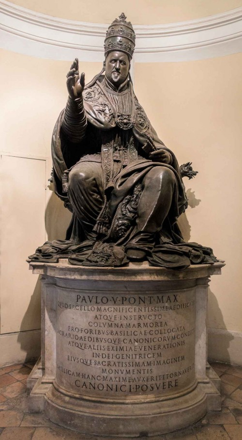 Postument papieża Pawła V, loggia bazyliki Santa Maria Maggiore