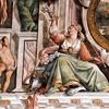 Sala Regia w Palazzo del Quirinale, dekoracje podsufitowe z papieskim herbem
