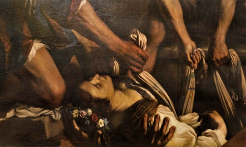 St. Petronella fragment of the painting The Funeral of St. Petronella, Guercino, Musei Capitolini - Pinacoteca