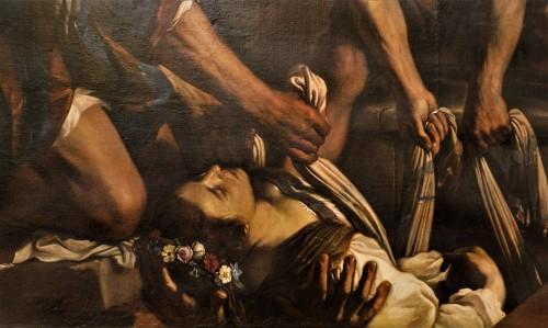 Św. Petronela, fragment obrazu Pogrzeb św. Petroneli, Guercino, Musei Capitolini - Pinacoteca