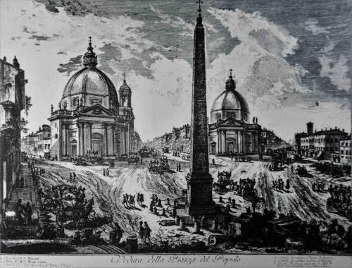 Piazza del Popolo, Giovanni Battista Piranesi, XVIII w.