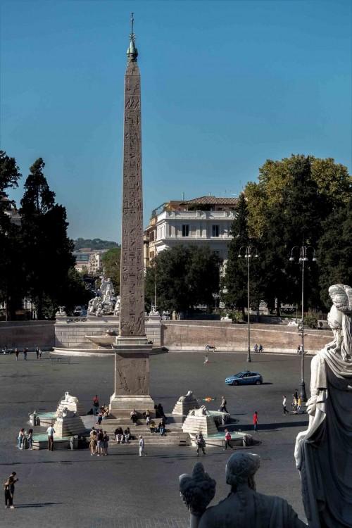 Piazza del Popolo, obelisk Flaminio