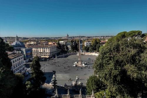 Piazza del Popolo, widok ze wzgórza Pincio