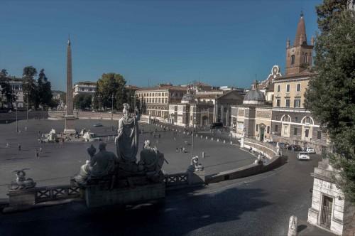 Piazza del Popolo, view from Pincio Hill