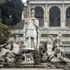 Piazza del Popolo, the goddess Roma and the personifications of Tiber and Arno – eastern side of the square