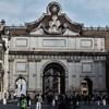 Piazza del Popolo, Porta del Popolo modernized during the times of Pope Alexander VII