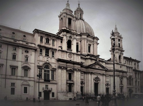 Piazza Navona, fasada kościoła Sant'Agnese in Agone