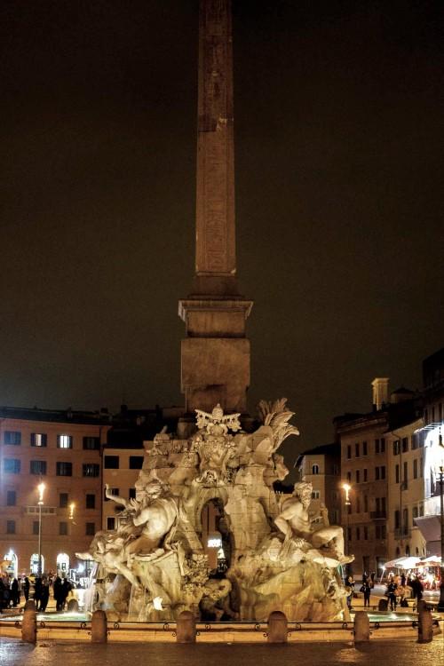 Piazza Navona, Fontanna Czterech Rzek (Fontana dei Quattro Fiumi)