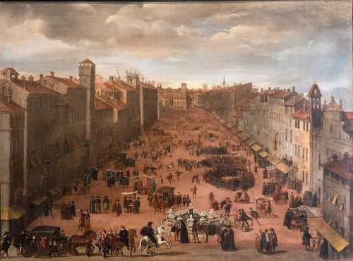 Piazza Navona, view of the square before the creation of the Fountain of Four Rivers, Museo di Roma, Palazzo Braschi