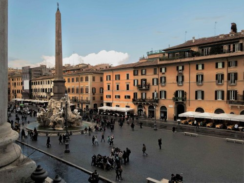 Piazza Navona, widok z okien  Palazzo Pamphilj