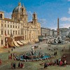 Piazza Navona, Gaspar van Wittel (Vanvitelli), 1699, Museo Thyssen-Bornemisza, zdj. Wikipedia
