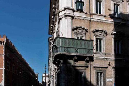 Balcony in Palazzo Bonaparte at the end of via del Corso