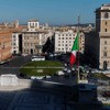Piazza Venezia seen from the terrace of the Altar of the Fatherland