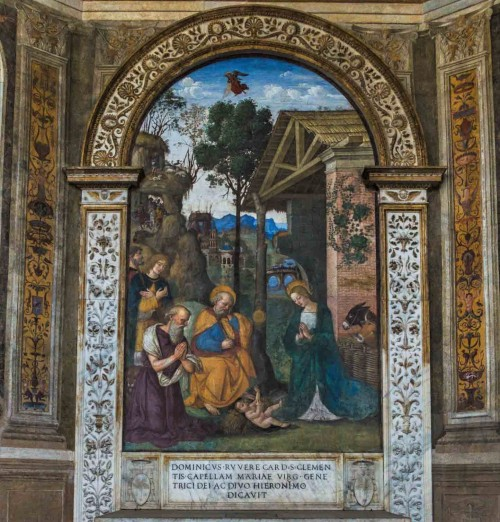 Pinturicchio, kościół Santa Maria del Popolo, kaplica della Rovere, Adoracja Dzieciątka Jezus