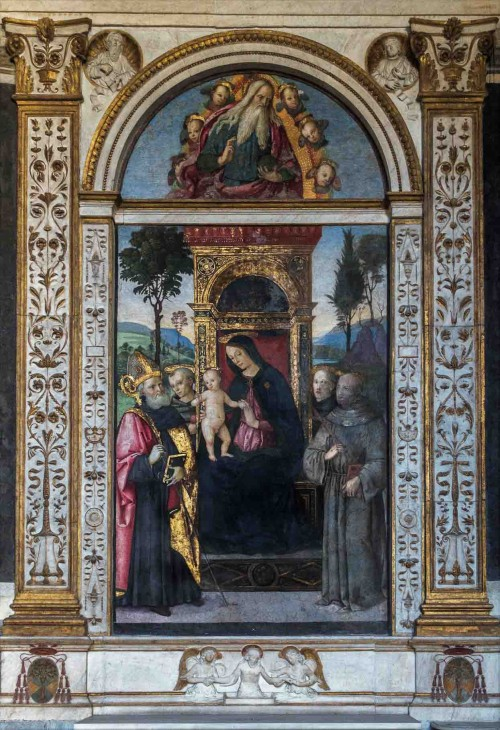 Pinturicchio, Madonna with Child surrounded by saints, Cappella Basso della Rovere, Basilica of Santa Maria del Popolo