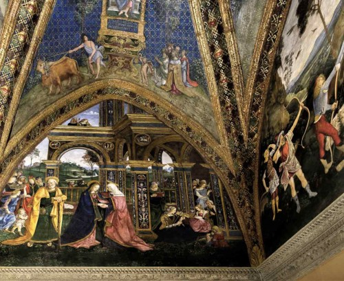 Pinturicchio, The Visitation of St. Elizabeth, apartments of Pope Alexander VI (Sala dei Misteri), Apostolic Palace