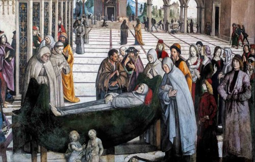Pinturicchio, The Death of St. Bernard of Siena, Cappella Bufalini, Church of Santa Maria in Aracoeli