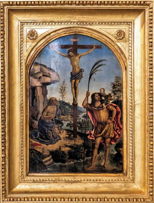 Pinturicchio, The Crucifixion with St. Jerome and St. Christopher, Galleria Borghese