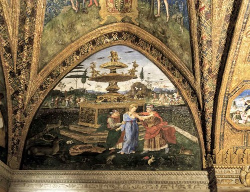 Pinturicchio, Susanna and the Elders, apartments of Pope Alexander VI (Sala dei Santi), Apostolic Palace