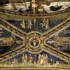 Pinturicchio, apartamenty papieża  Aleksandra VI (Sala dei Santi), sklepienie z herbem Borgia, pałac Apostolski