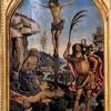 Pinturicchio, Ukrzyżowanie ze św. Hieronimem i św. Krzysztofem, Galleria Borghese