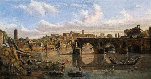 Ponte Rotto, Vanvitelli (Gaspar van Wittel), 1680, view of the bridge from the XVII century, private collection, pic. Wikipedia