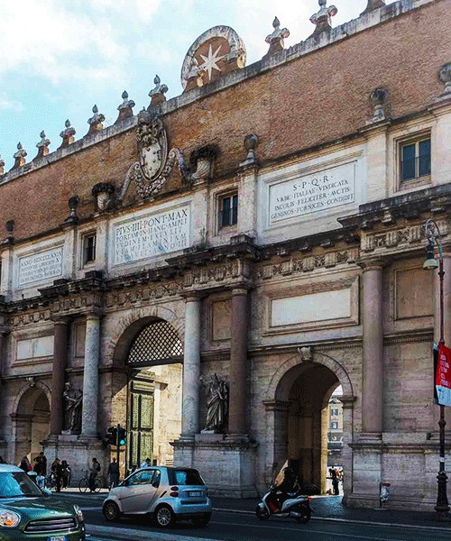Porta del Popolo od strony północnej