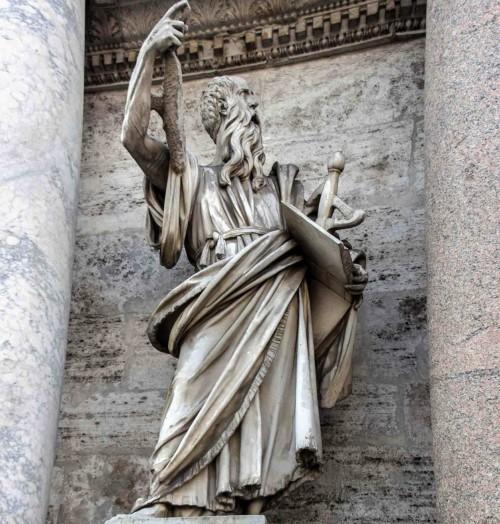 Porta del Popolo, northern side, statue of St. Paul, Francesco Mochi