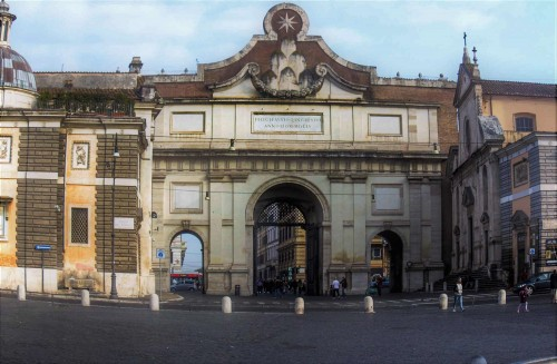 Porta del Popolo, view of the southern elevation