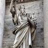 Porta del Popolo, strona północna, posąg św. Pawła, Francesco Mochi