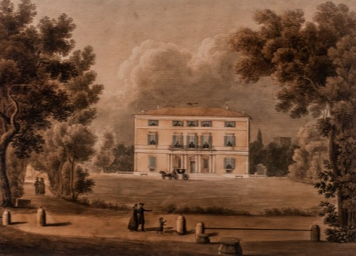 Casino di villa Paolina - rzymska siedziba księżnej Borghese, akwarela, Giovanni Riveruzzi, Museo Napoleonico