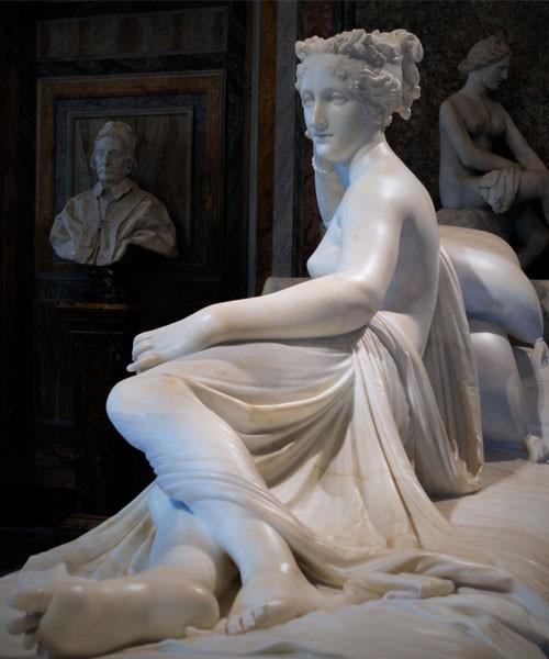 Pauline Borghese jako Wenus Zwycięska, Antonio Canova, 1805 r., Galleria Borghese