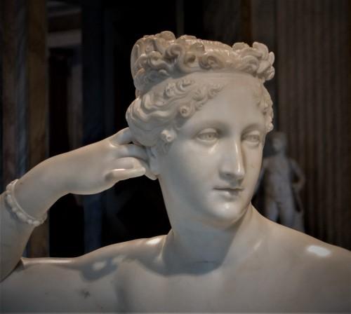 Pauline Borghese jako  Wenus zwycięska, Antonio Canova, fragment, Galleria Borghese