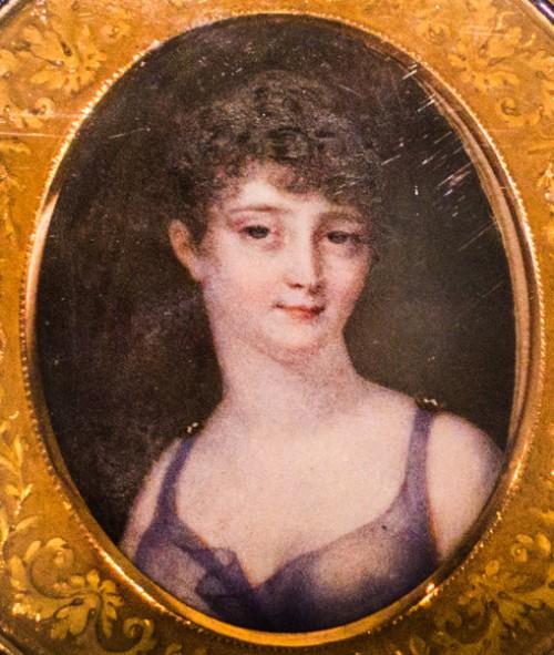 Pauline Borghese, miniatura z 1805 r., J.B.Isabey,  Museo Napoleonico