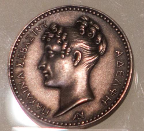 Pauline Borghese na srebrnym medalu z  1810 r., Museo Napoleonico