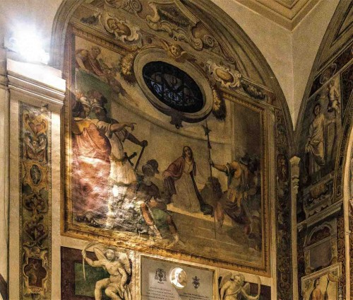 Church of Santa Prisca, transept paintings – scenes from the life St. Prisca the martyr