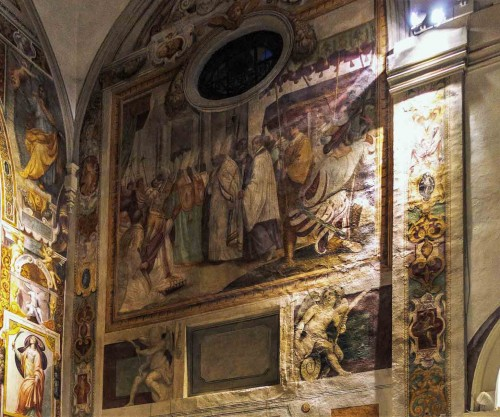 Church of Santa Prisca, tansept paintings – scenes from the life St. Prisca the martyr
