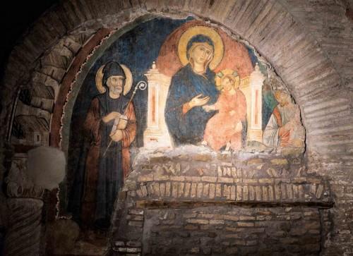 St. Sabbas Adoring the Madonna and Child, Church of San Saba