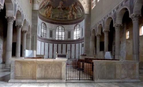 Santa Sabina, wnętrze, widok absydy