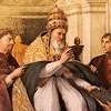 Portret Juliusza II jako papieża Grzegorza IX, Rafael, apartamenty Juliusza II (Stanze Rafaela), pałac Apostolski