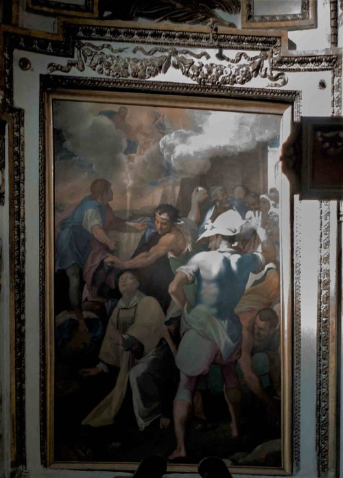 Church of San Stefano del Cacco, the scene of the martyrdom of St. Stephen, Cesare Nebbia (attributed), approx. 1585