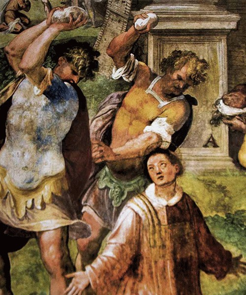 The Martyrdom of St. Stephen, Church of San Stefano Rotondo, Pomarancio (Niccolò Circignani)