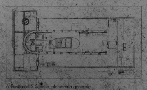 Plan of the early-Christian Basilica of San Stefano Protomartire at via Latina
