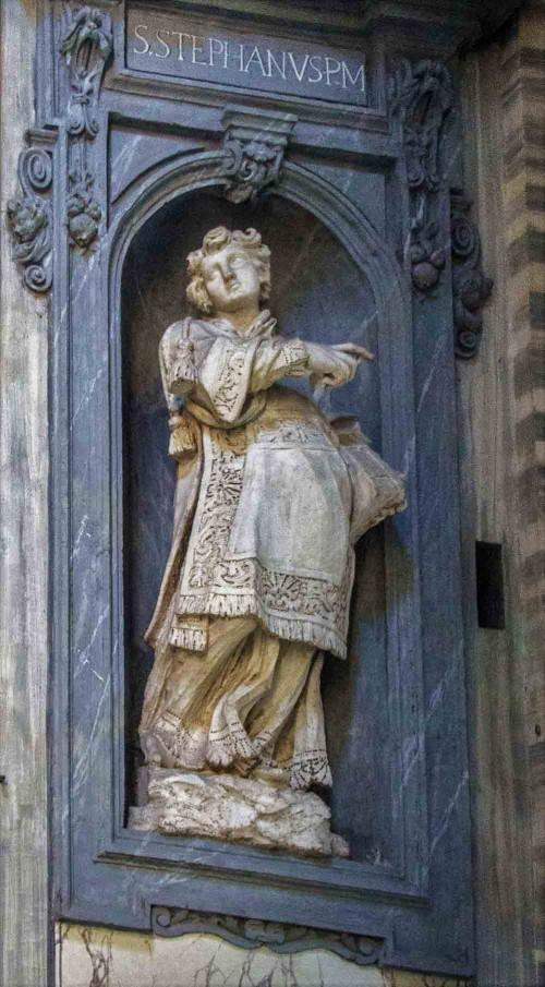 Posąg św. Szczepana w kościele San Carlo al Corso, Francesco Cavallini