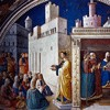 St. Stephen Preaching and Giving his Speech in front of the Sanhedrin, Fra Angelico, Chapel of Nicholas V, Apostolic Palace
