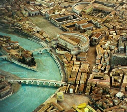 Antyczne Forum Boarium, świątynia Herkulesa i Ara Maxima, zdj. Wikipedia, autor Alessandro57