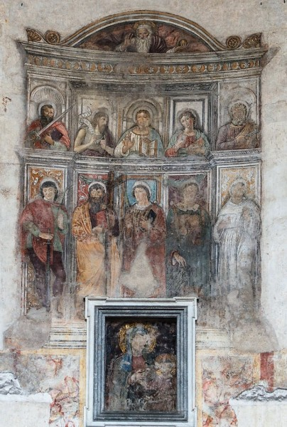 The Temple of Hercules, painting in the main altar of the oldest church