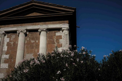 The Temple of Portunus, rear of the temple